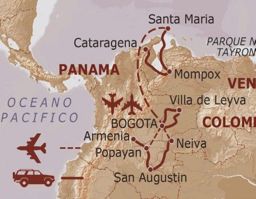mappa Colombia