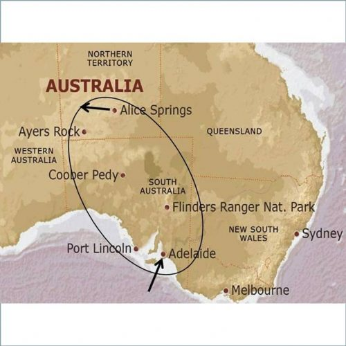 mappa Australia fly and drive