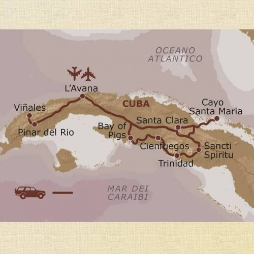 mappa Cuba – Fly and Drive