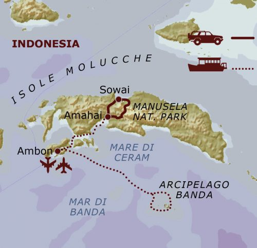 mappa Isole Molucche